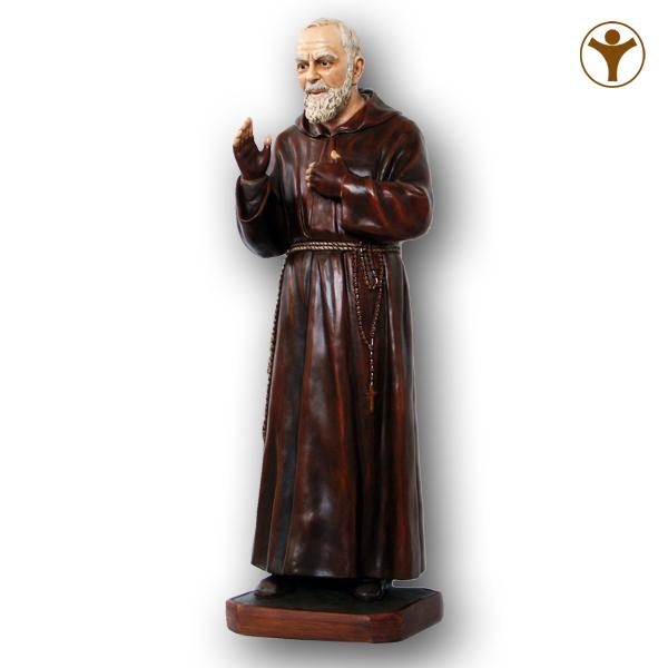 Ben noto San Padre Pio - Mar Statue Sacre - Roma BK86